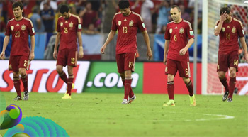 Сборная Испании вылетела с ЧМ-2014